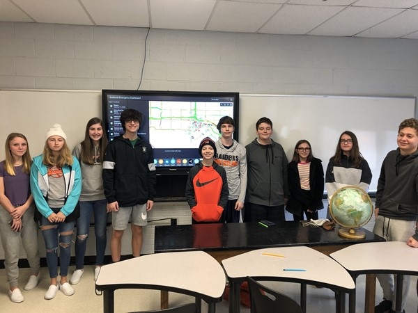 STEM Class made an operations dashboard for emergency response for the city of Redlands, CA. With the dashboard, an emergency coordinator can locate all city assets, see traffic conditions, identify emergencies called in to 911, etc.