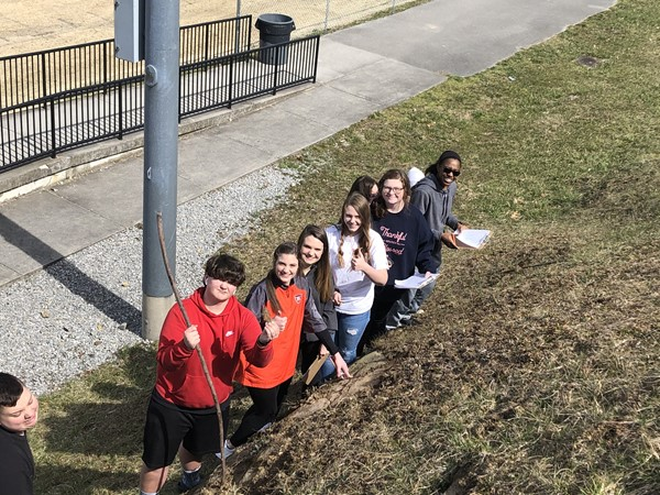 Environmental Science Class-finding examples of erosion & weathering.